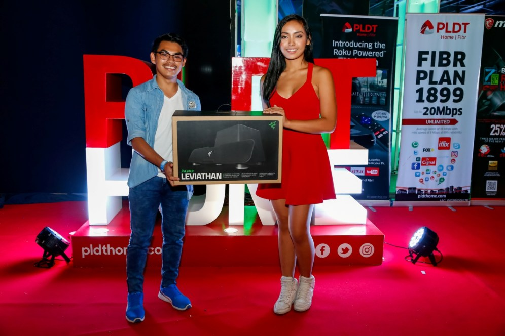 (1) Guests took home premium prizes from PLDT Home's exciting promos