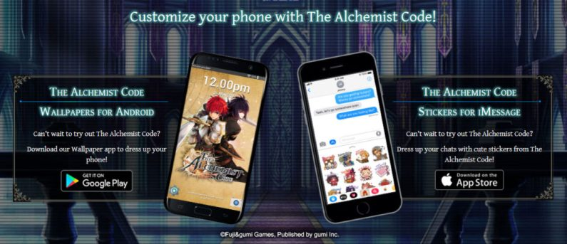 You can now Pre-Register for The Alchemist Code Mobile Game