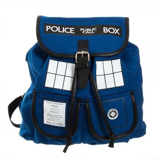 tardis napsack by geek universe