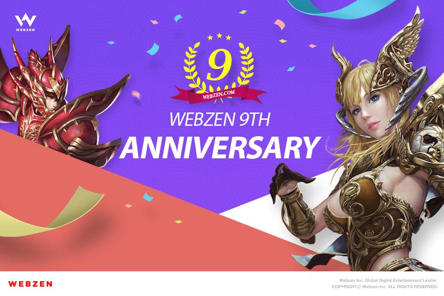 WEBZEN celebrates the 9th Anniversary of 'WEBZEN.com'