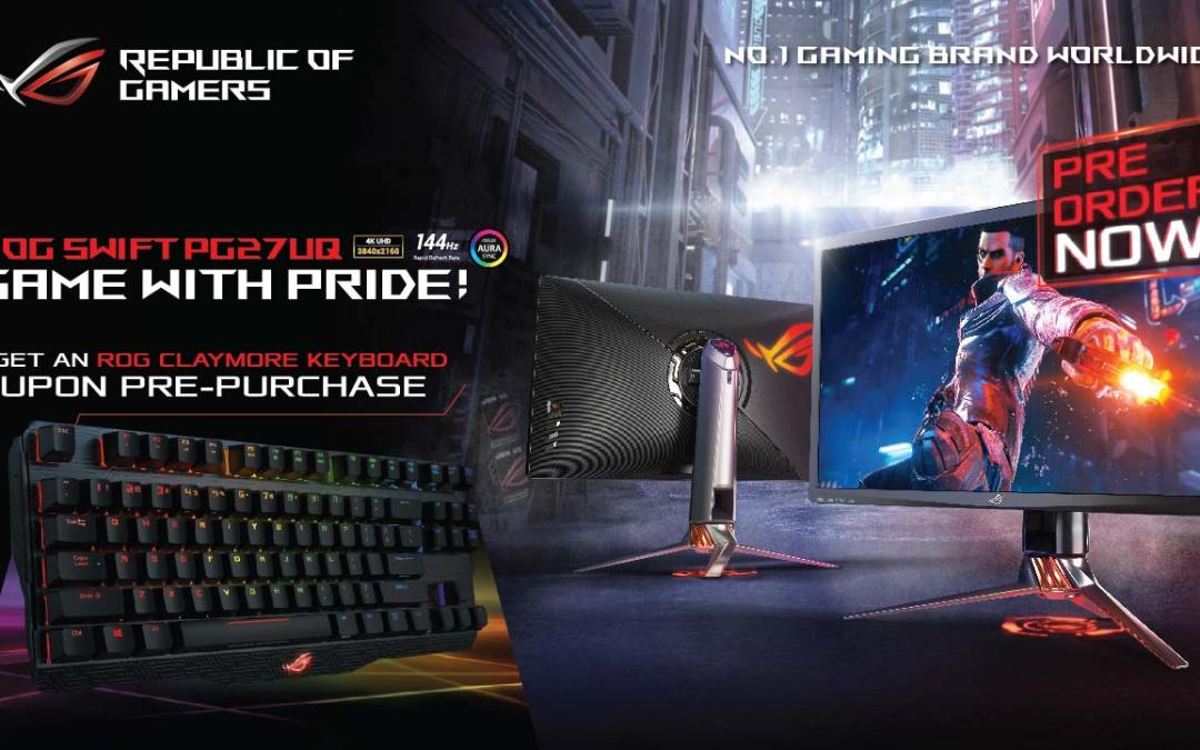 ASUS Republic of Gamers Is Now Accepting Pre-Orders for the Swift PG27UQ with a Bundled ROG Claymore
