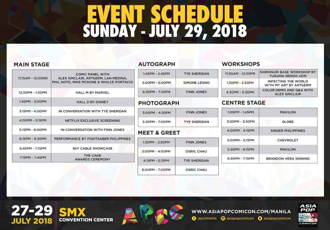 APCC Manila 2018 day 3 schedule