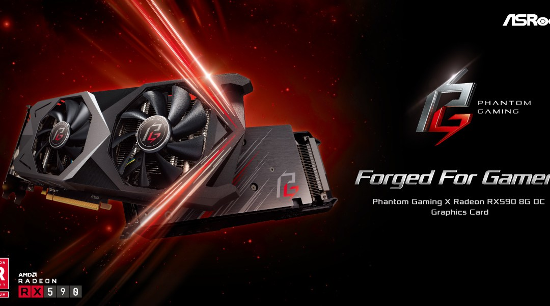 ASRock announces Phantom Gaming X Radeon RX590 8G OC graphics card