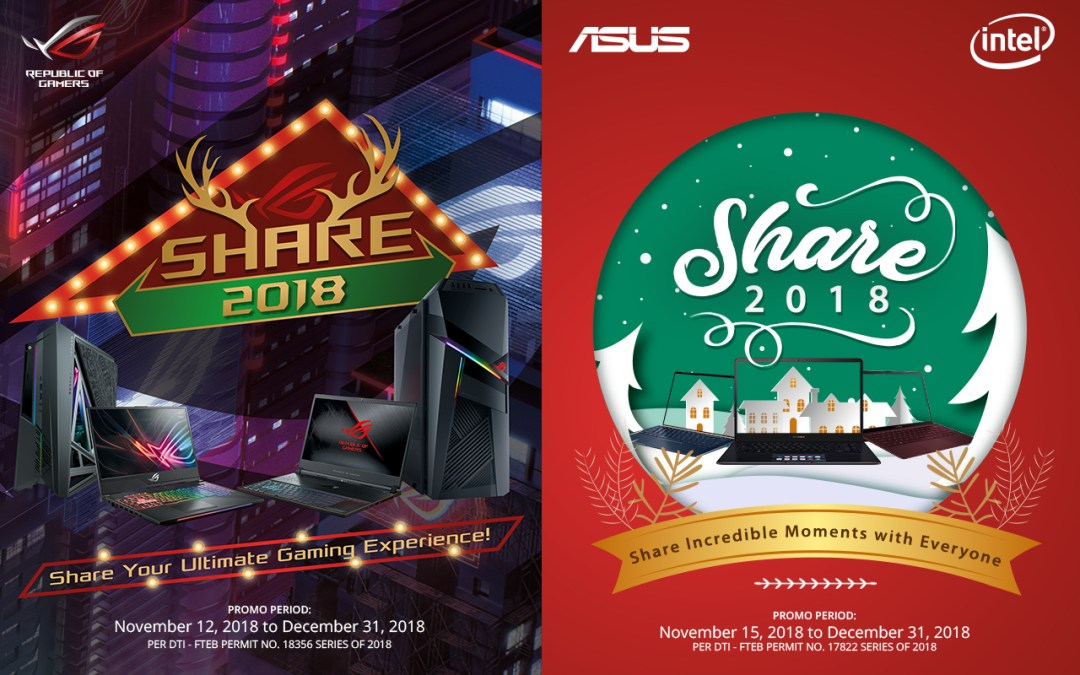 ASUS Philippines Welcomes the Warmest Gift-Giving Season Back with its Share 2018 Christmas Promo