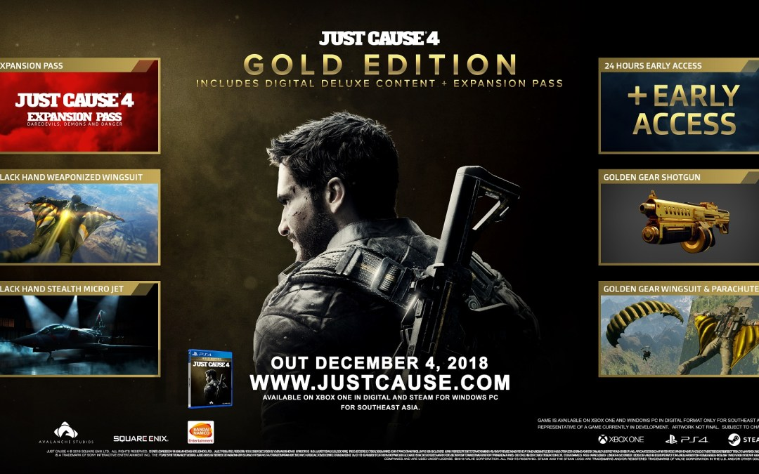 Check Out What's Inside Just Cause 4's Day-1 Bonus and Gold Edition