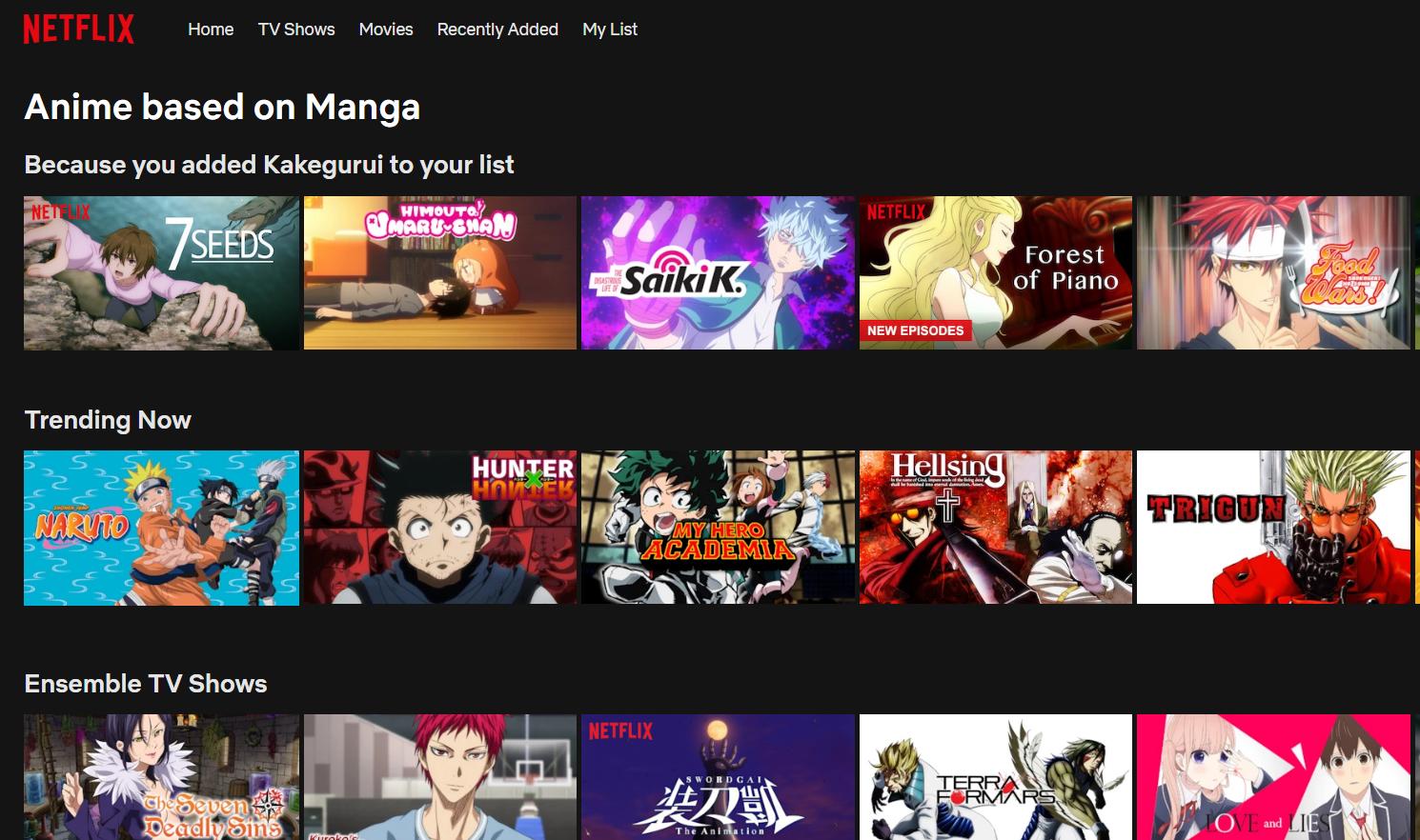 Netflix Anime Liste