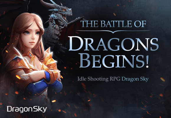Idle Shooting RPG DragonSky,  Globally launched in Europe, Australia and Asia
