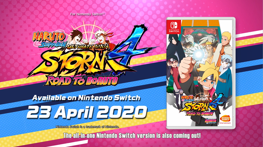 Naruto Shippuden: Ultimate Ninja Storm 4 Road to Boruto Nintendo Switch Version Arriving on April