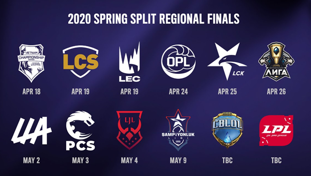 Catch all the League of Legends 2020 Spring Finals Stream Schedules