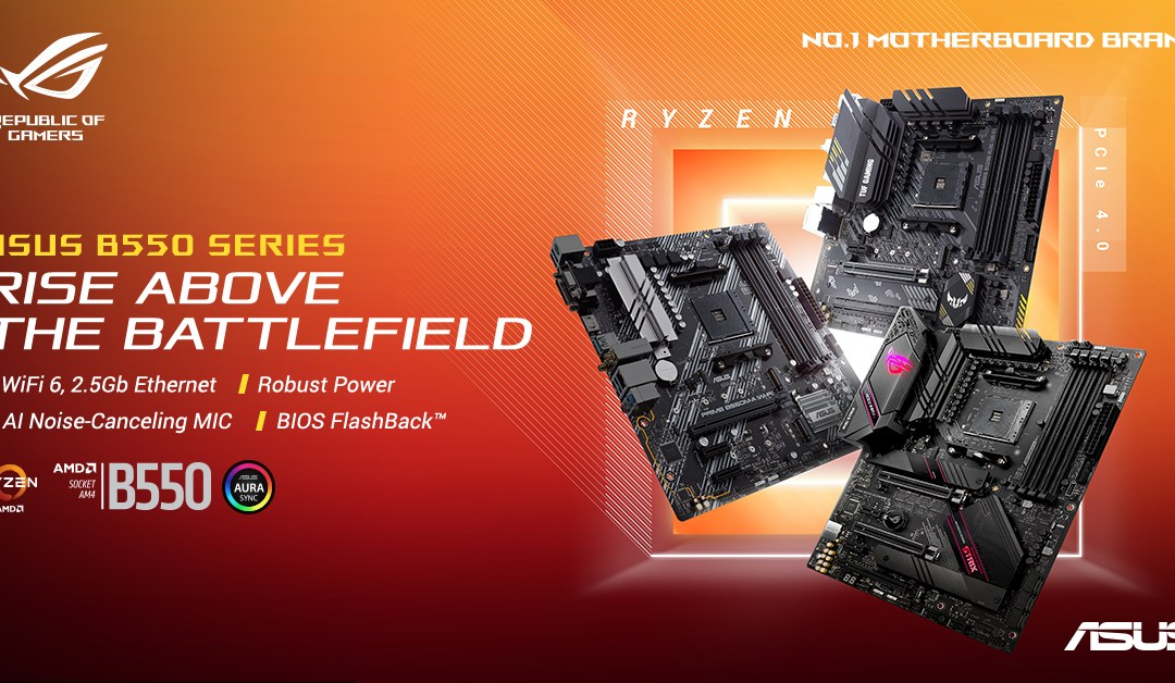 ASUS Announces AMD B550 Motherboards