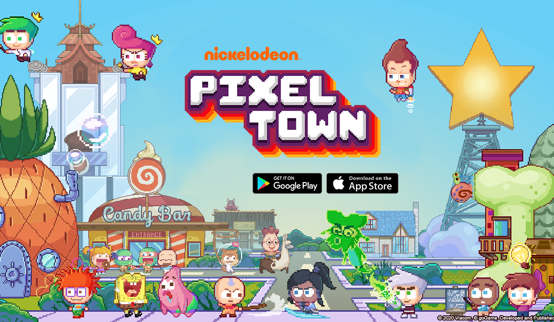 Nickelodeon Pixel Town Moves Into Google Play & Apple App Store Today
