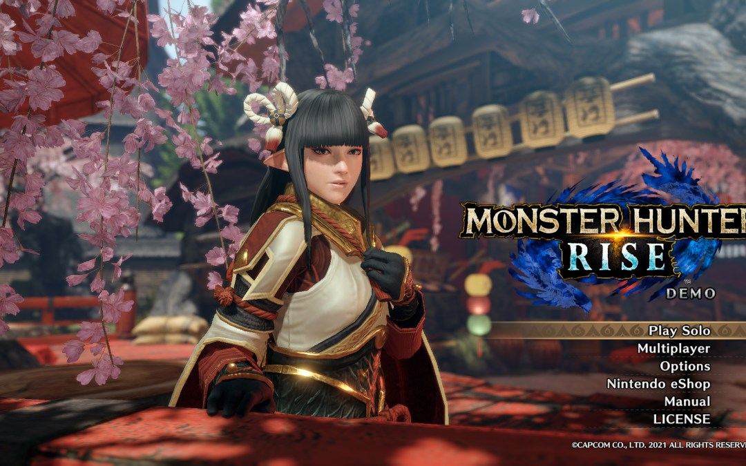 MONSTER HUNTER RISE DEMO will be Available Today