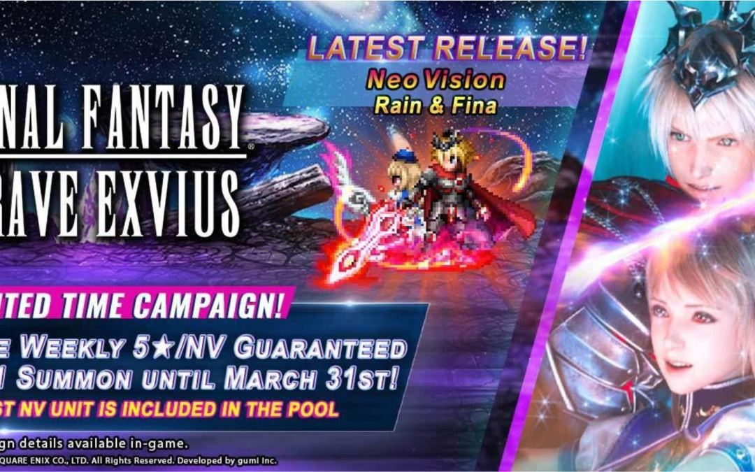 New Updates for Final Fantasy Brave Exvius with Rain & Fiona