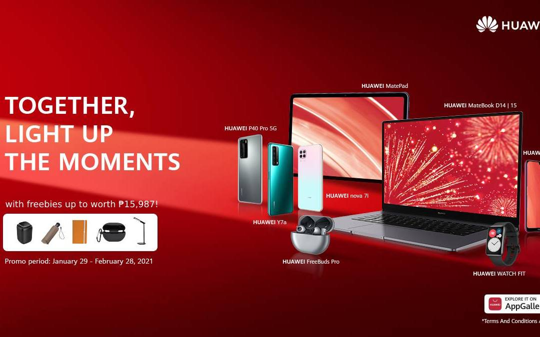 "Huawei Illuminates the New Year with ""Light Up the Moments"" Promotional Deals"