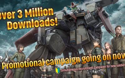 MOBILE SUIT GUNDAM: BATTLE OPERATION 2 reaches over 3 million downloads