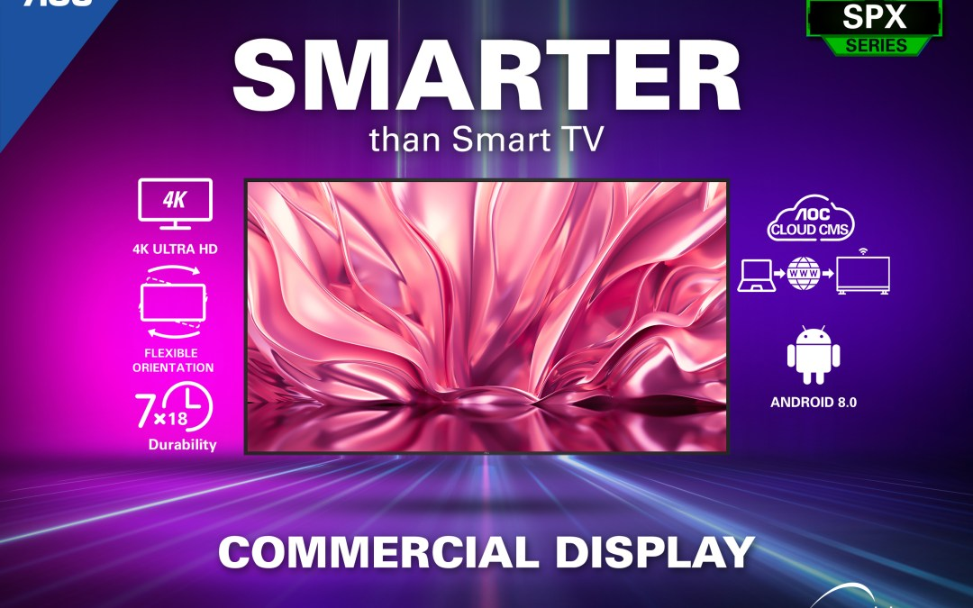 AOC Monitors Go Big with New Commercial Displays
