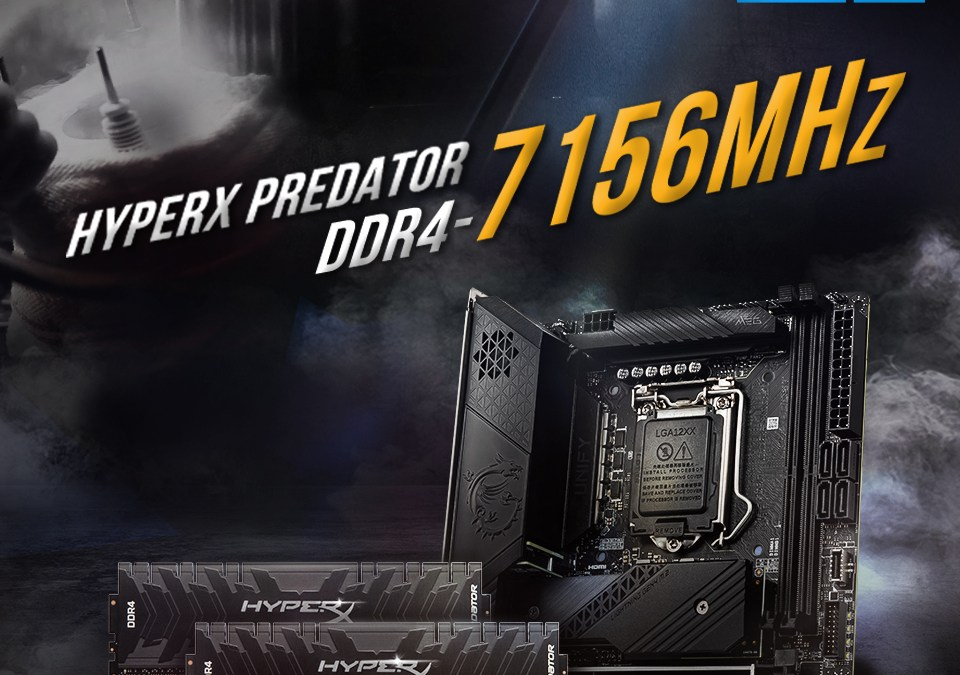Kingston HyperX Sets DDR4 Overclocking World Record at 7156MHz