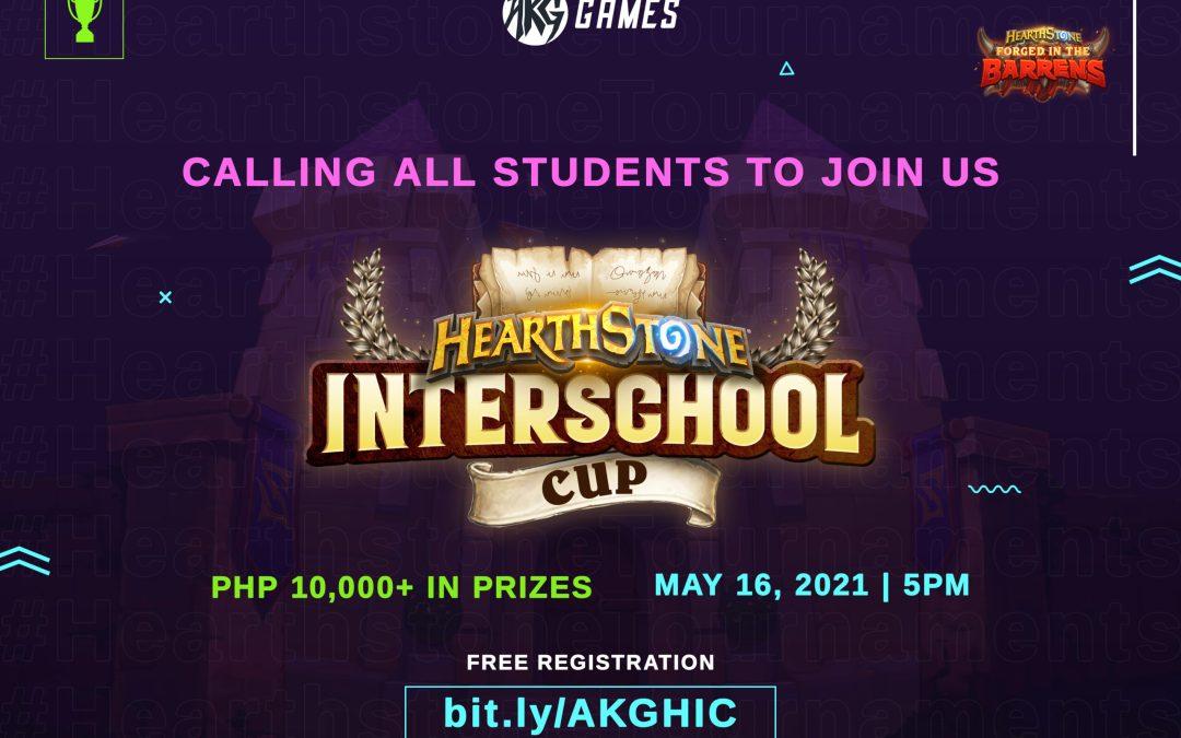 AKG Games presents Philippine's first Hearthstone Interschool Cup