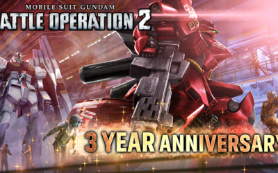 Mobile Suit Gundam Battle Operation 2 Celebrates its Third Anniversary with New In-Game Events and Rewards