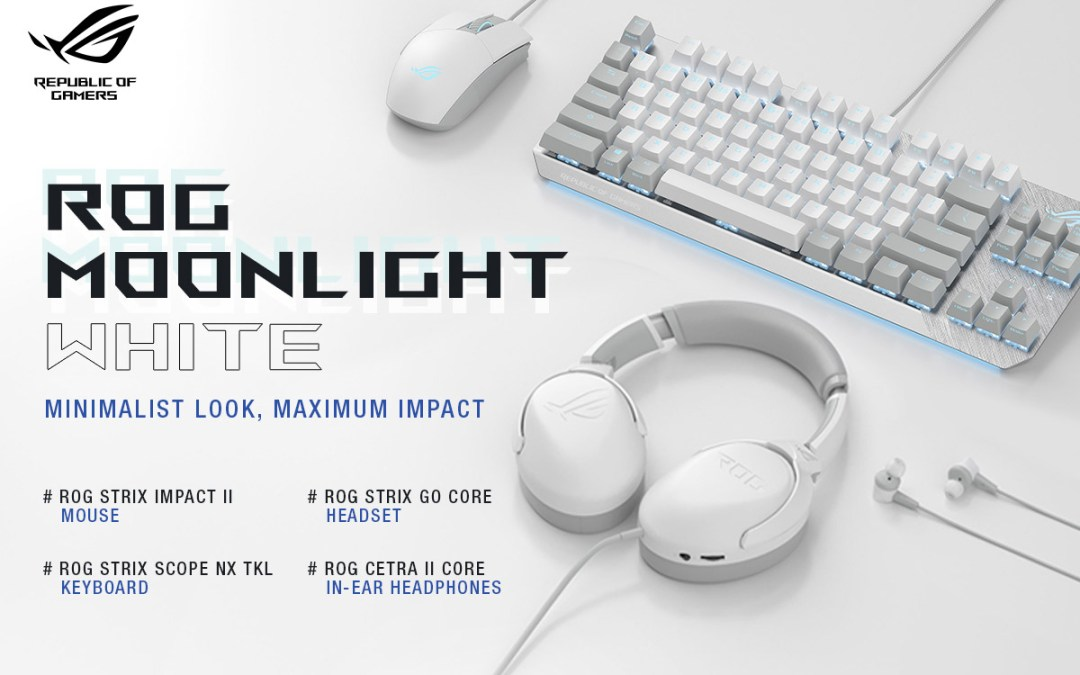 ASUS ROG Announces The New Moonlight White Gaming Peripheral Series
