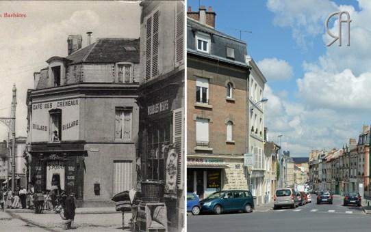 La rue du Barbâtre et le café des Créneaux