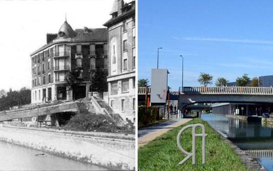 Le Pont de Vesle en 1940 et en 1944