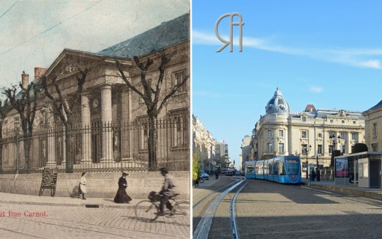 La rue Carnot vue depuis le Palais de Justice - 1906