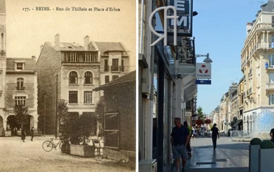 La Reconstruction - Rue de Thillois et Place d'Erlon