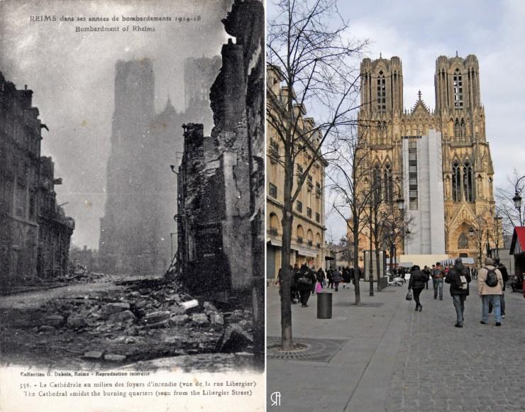 La Cathédrale pendant les bombardements