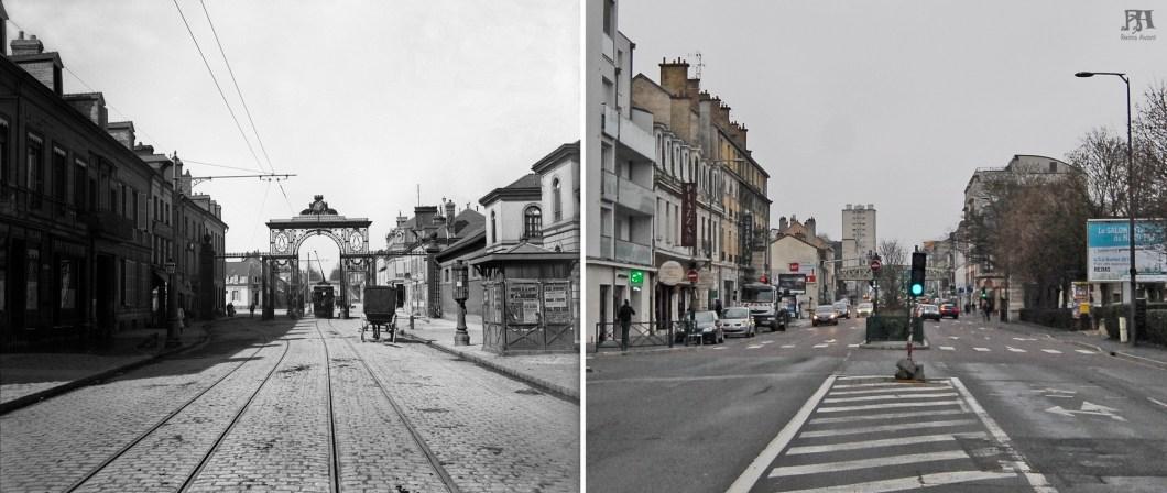 Porte de Paris, rue du Colonel Fabien