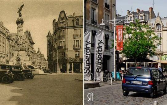 Rue Buirette et la fontaine Subé