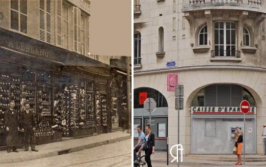 """La rue Carnot et le magasin de chaussures """"Le Chat Perçant"""""""