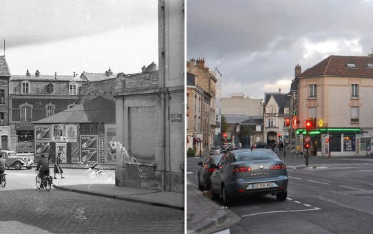 Rue Eugène Desteuque au coin de la rue Ponsardin et Voltaire