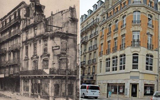 La Chapellerie Lapchin à l'angle de la rue de Talleyrand et de la rue du Cadran-St-Pierre