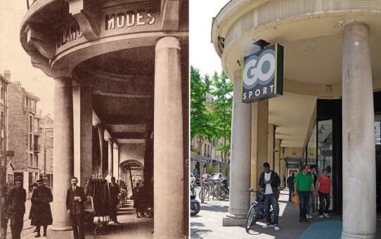 Les arcades de la rue de l'Etape