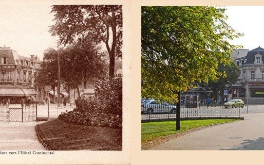 Jardin Colbert vers l'Hôtel Continental