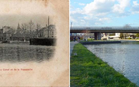 Le canal et la passerelle pivotante