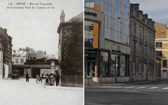La rue de Courcelles vue du boulevard Louis Roederer