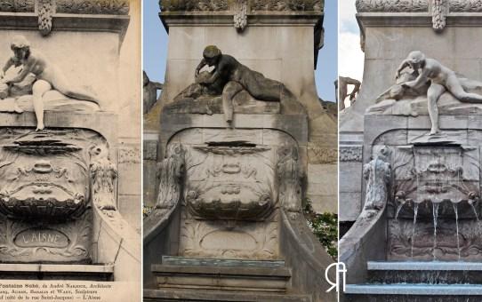 3 époques : Fontaine Subé, L'Aisne, La Vesle, La Marne et La Suippe