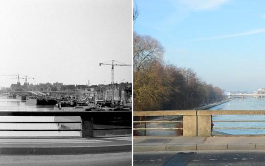Le pont Charles-de-Gaulle vu du pont de Venise