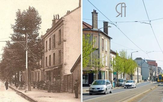 """L'avenue de Laon à hauteur du bar """"Le Lutétia"""""""