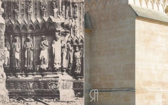 Pilastre de la tour nord de la cathédrale