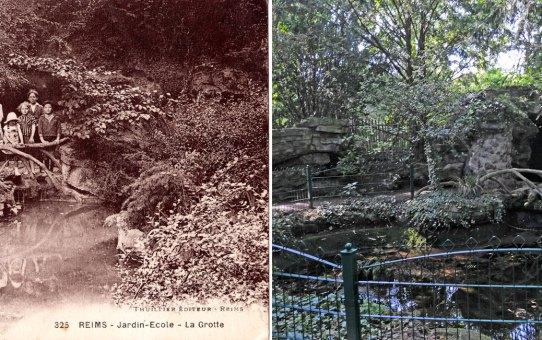 "La grotte du jardin Ecole, actuel ""jardin d'horticulture Pierre Schneiter"""