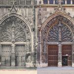 Le portail latéral de la basilique Saint-Remi