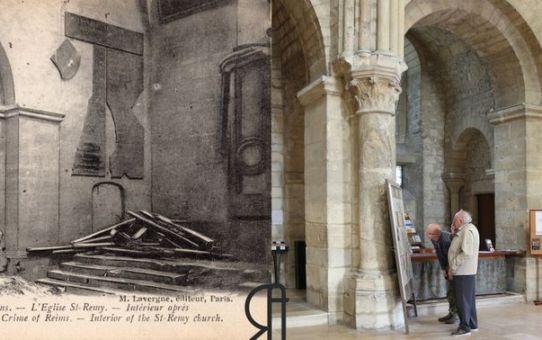 L'intérieur de Saint-Remi après le bombardement