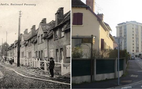Allée des bons enfants – 1923-1924, en arrière plan, la rue Lanson