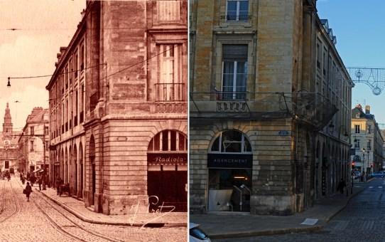 Rue Colbert à trois époque