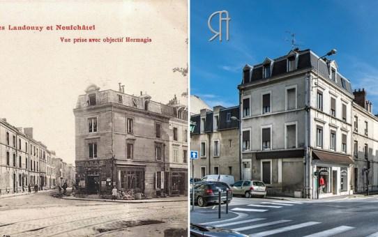 Les rues Landouzy et Neufchâtel