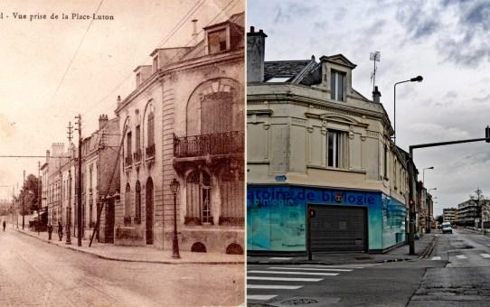Rue de Neufchatel. Vue prise de la place Luton