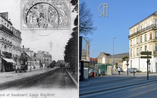 L'angle du boulevard Joffre et de la rue Villeminot-Huard